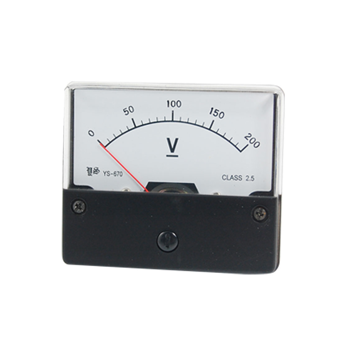 Fine Adjustable Dial Panel Meter Analog Voltmeter DC 0-200V