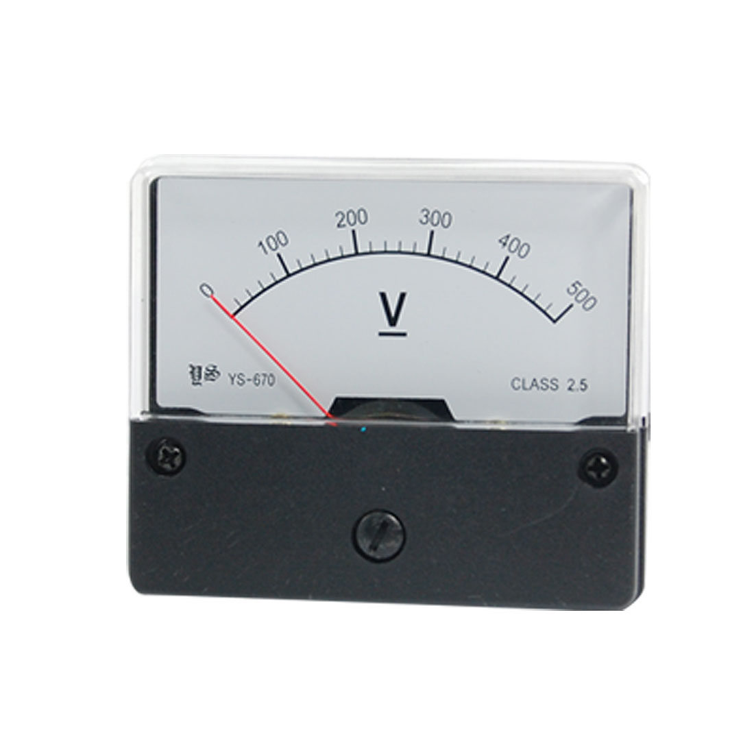 YS-670 DC 0-500V Panel Mount Meter Analog Voltmeter Gauge