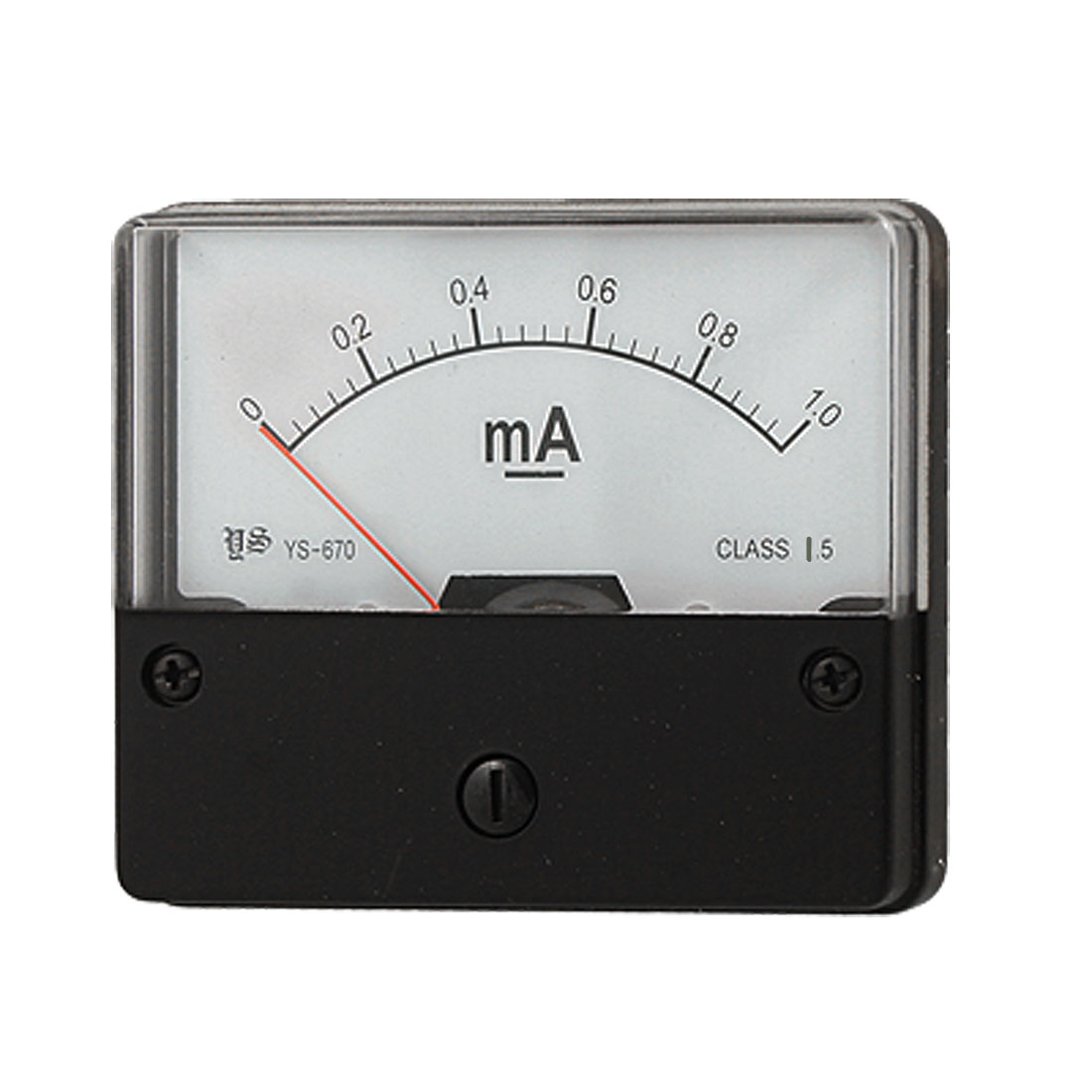 Plastic Housing DC 0-1mA Analogue Display Current Panel Meter Tool