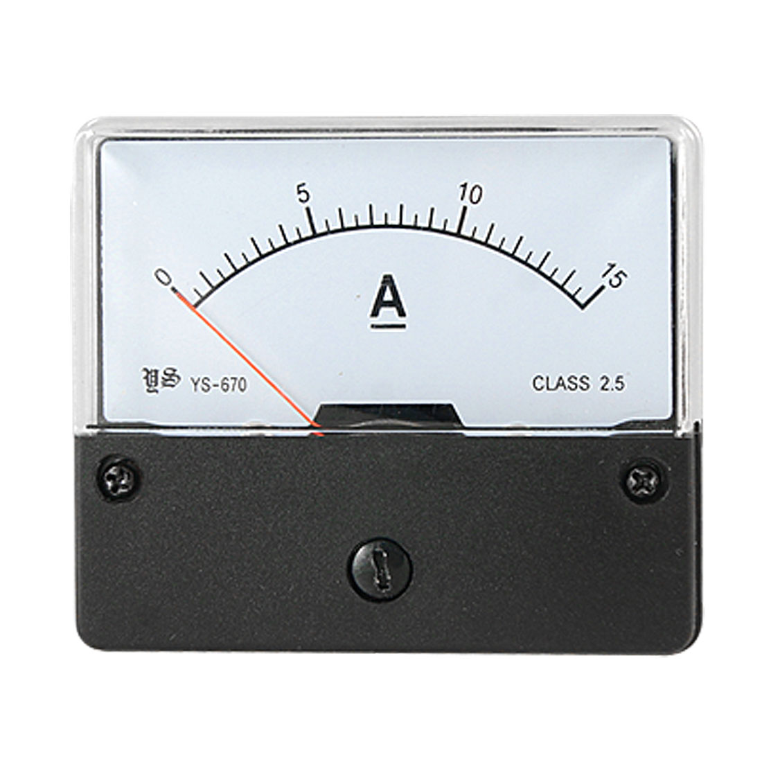DC 0-15A Current Range Panel Mount Ampere Meter Gauge w Fitting Part