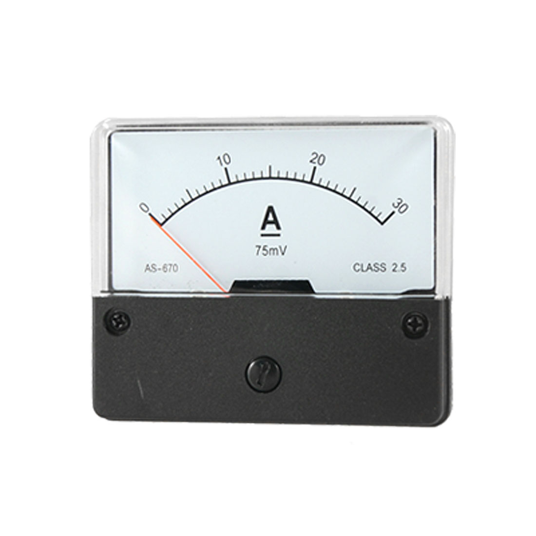 Panel Mount DC 0-30A Current Range Rectangle Meter w Fitting Part