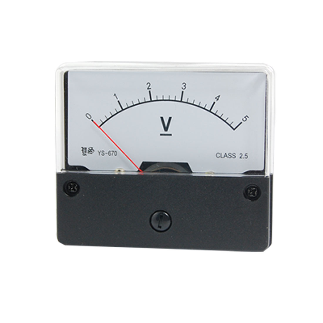 DC 0-5V Rectangle Analog Voltmeter Panel Meter Gauge YS-670