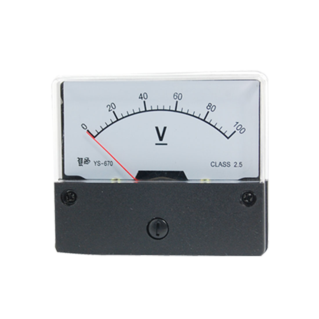 YS-670 Class 2.5 Accuracy DC 0-100V Analog Voltage Panel Meter