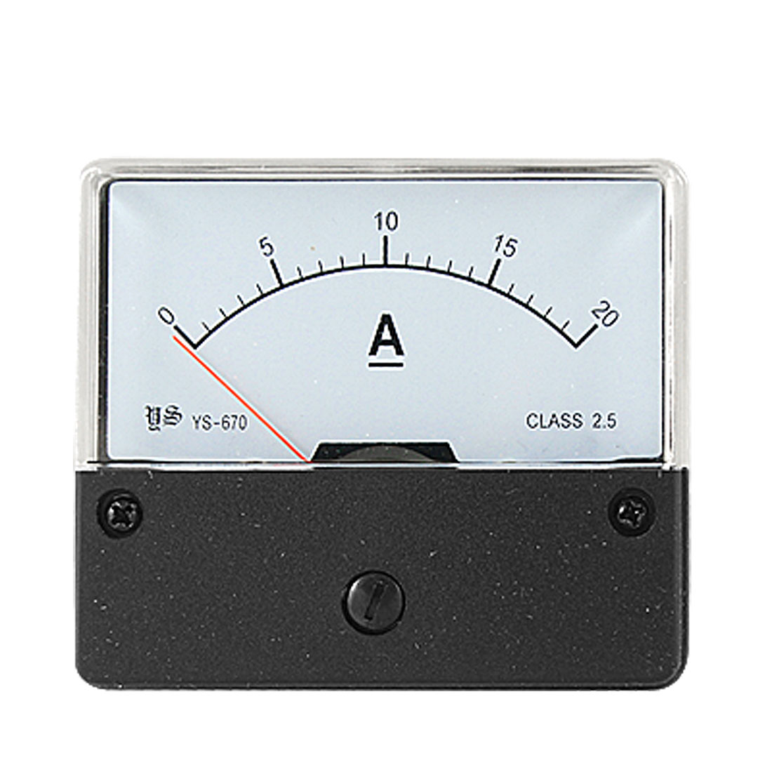 Class 2.5 Accuracy DC 0-20A Current Range Rectangle Amperemeter