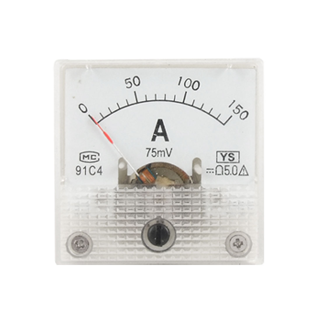 91C4 DC Current 150A Analog Pointer Panel Meter Ammeter