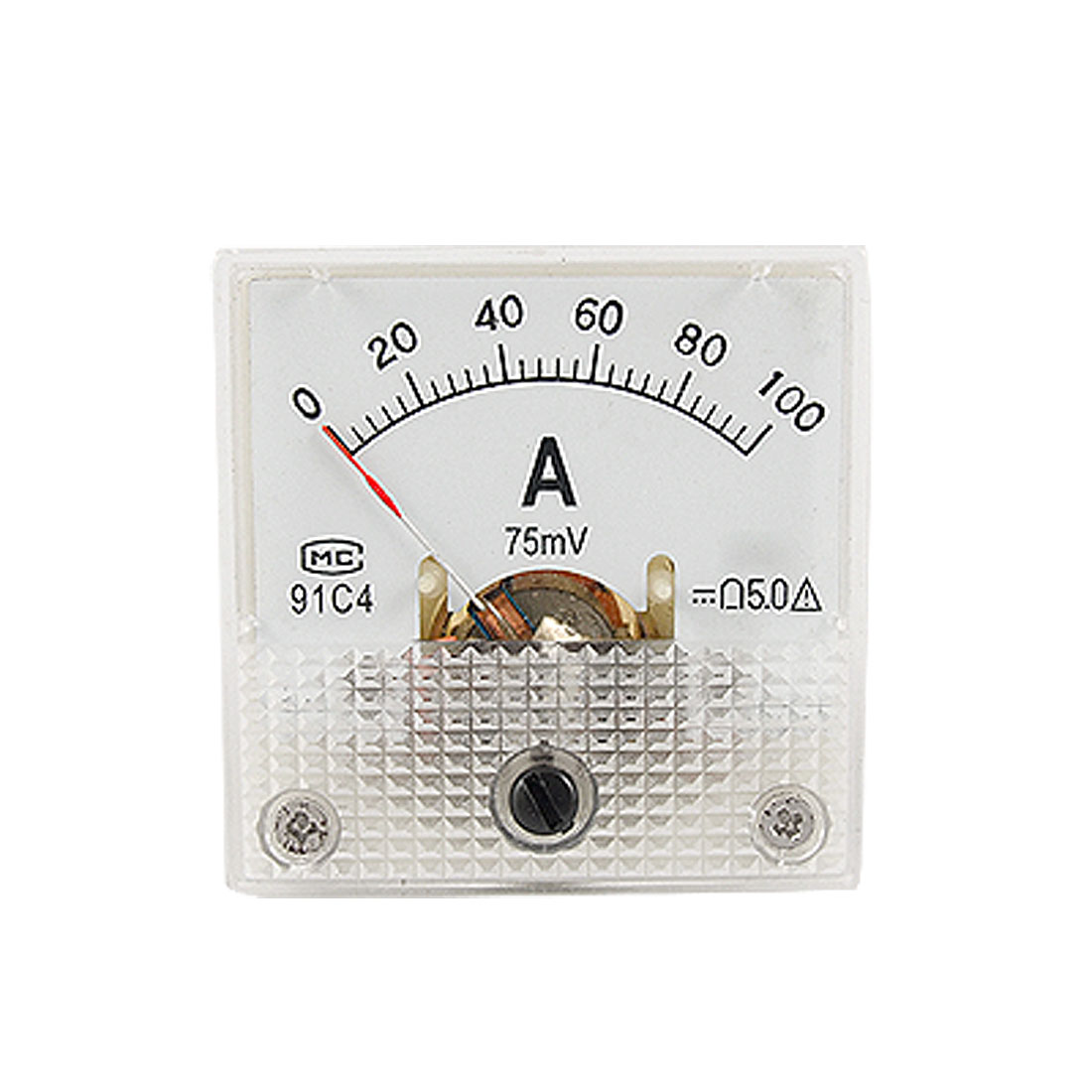 Miniature DC 0-100A Analog Panel Meter Ammeter 91C4
