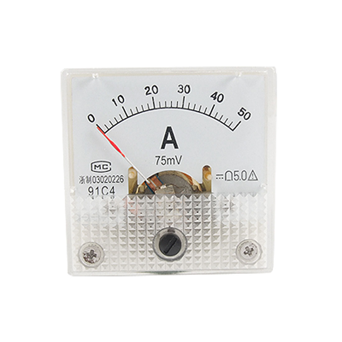 91C4 Class 5.0 Accuracy DC Current 0-50A Analog Panel Meter