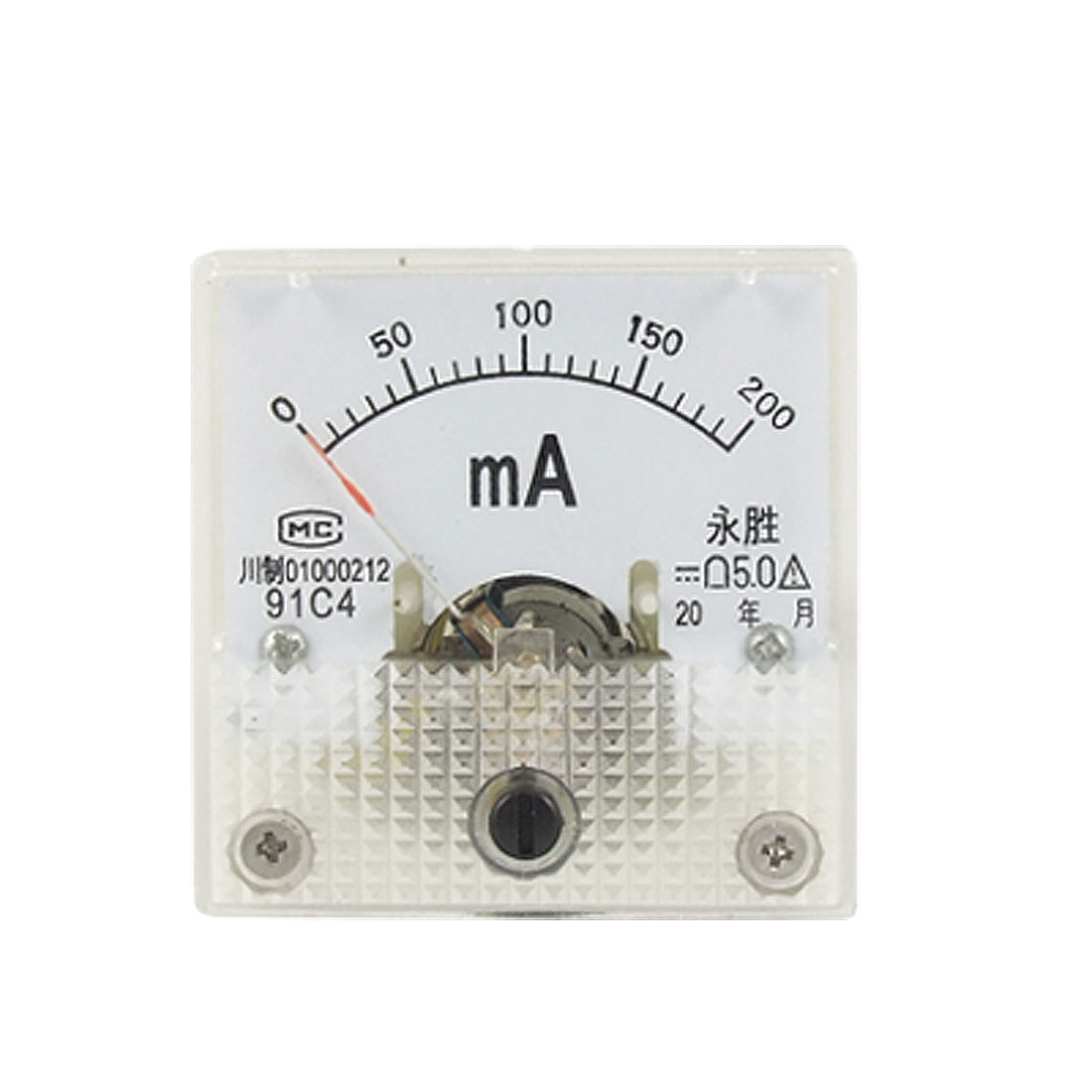 91C4 Class 5.0 Accuracy DC 200mA Panel Meter Ammeter