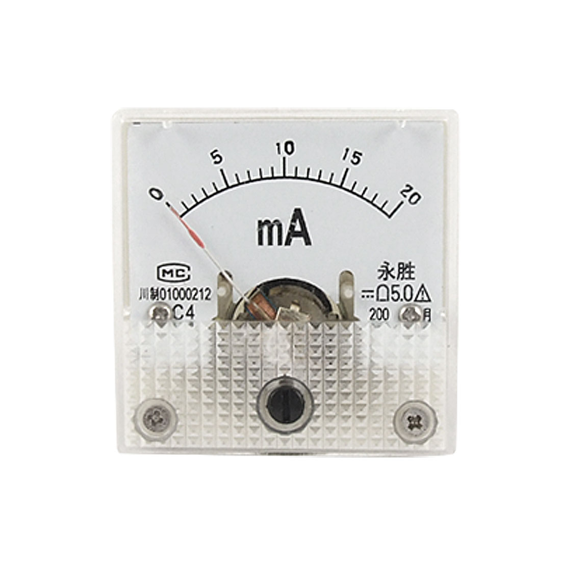 DC Current Measuring 0-20mA Pointer Analog Meter Ammeter