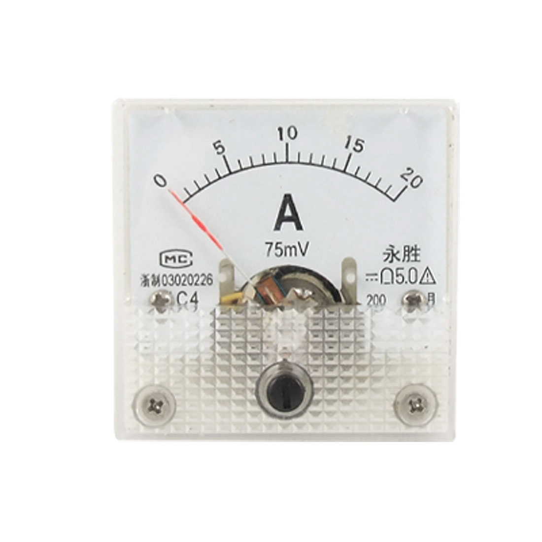 91C4 DC 0-20A Current Amperemeter Analog Panel Meter