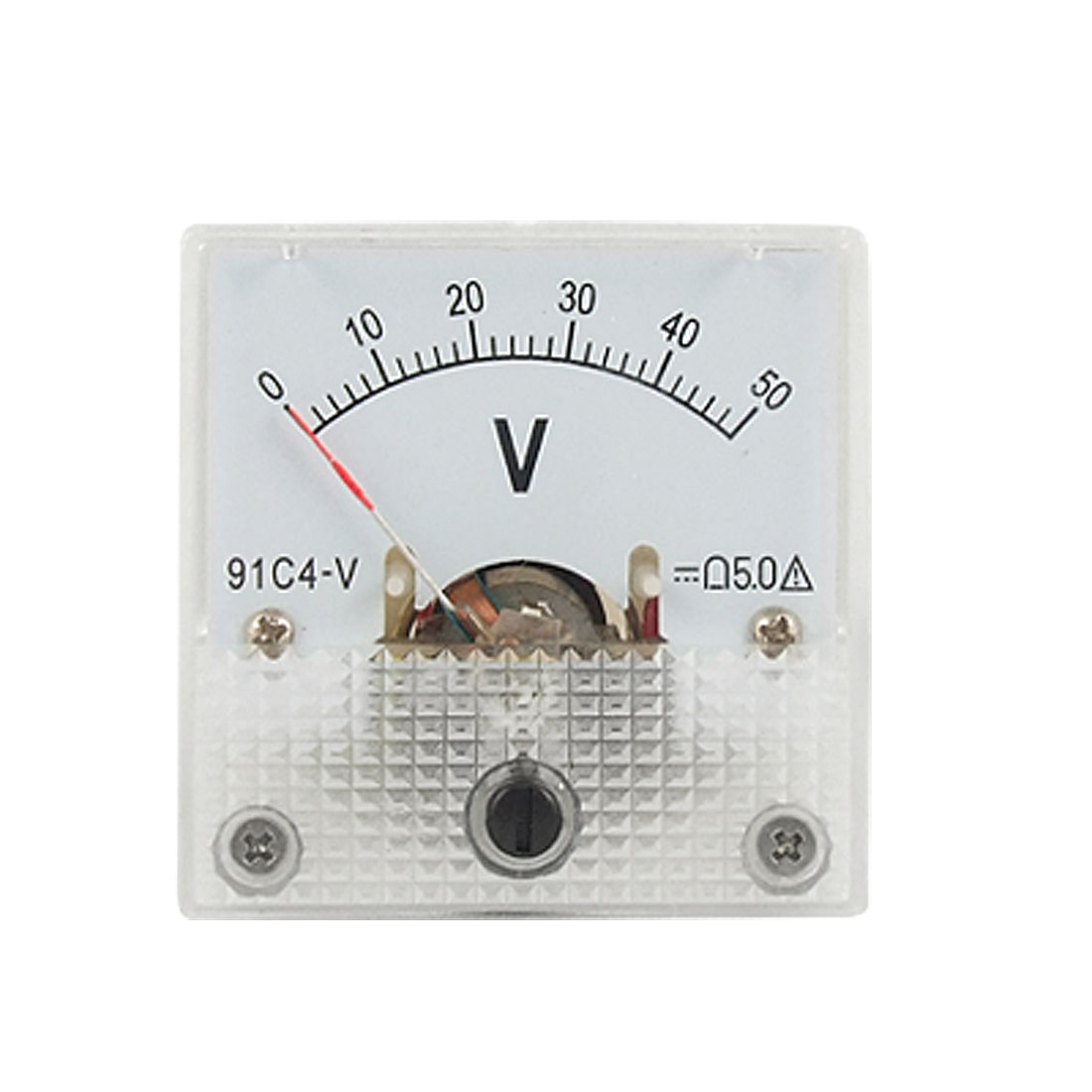 Mini Square DC 0-50V Analog Volt Panel Meter Voltmeter