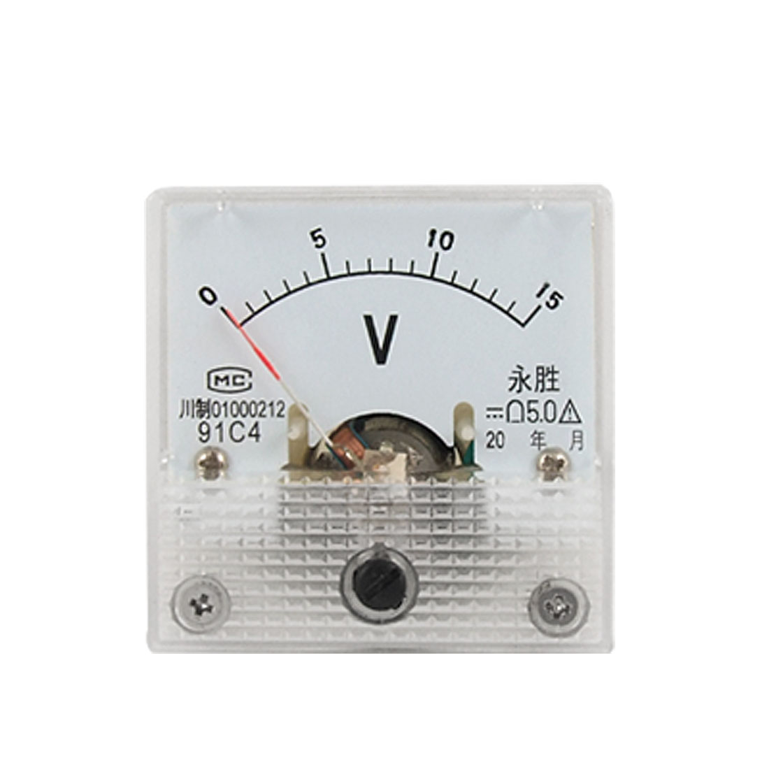 Square DC 0-15V Voltage Analog Pointer Panel Meter Voltmeter