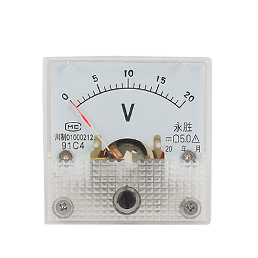 Mini Measuring DC 0-20V Analog Volt Panel Meter Voltmeter