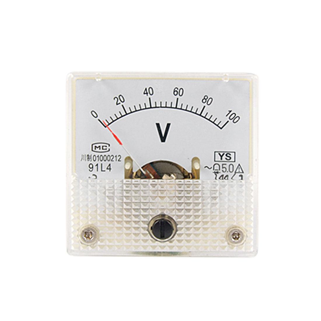 Plastic Square AC 0-100V Analog Volt Panel Meter Voltmeter