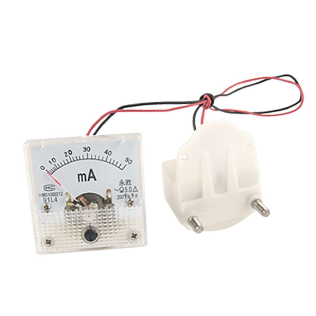 Plastic Square 91L4 AC 0-50mA Analog Meter Ammeter