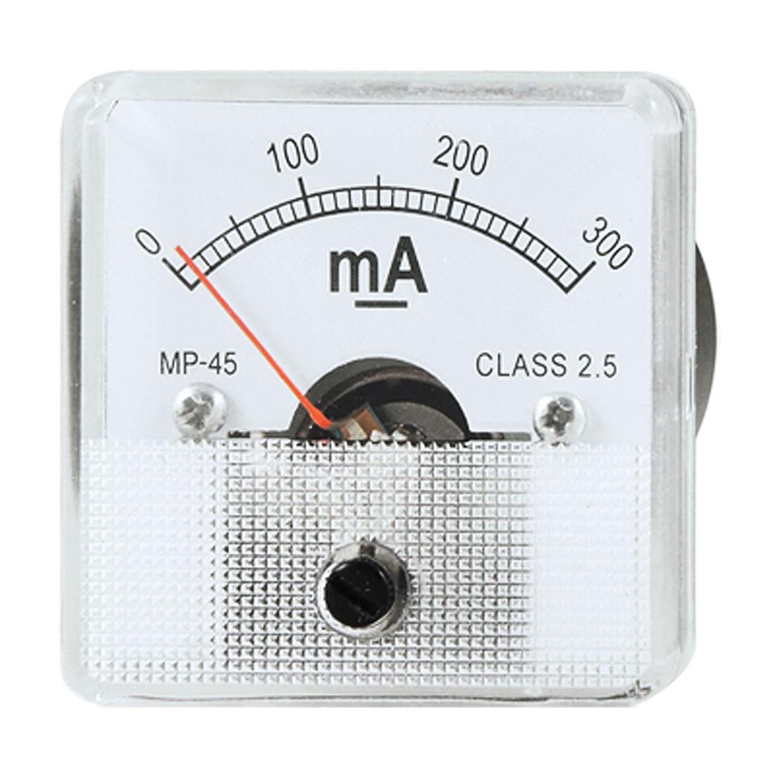 Analog Current Panel Meter DC 300 Milliampere Ammeter