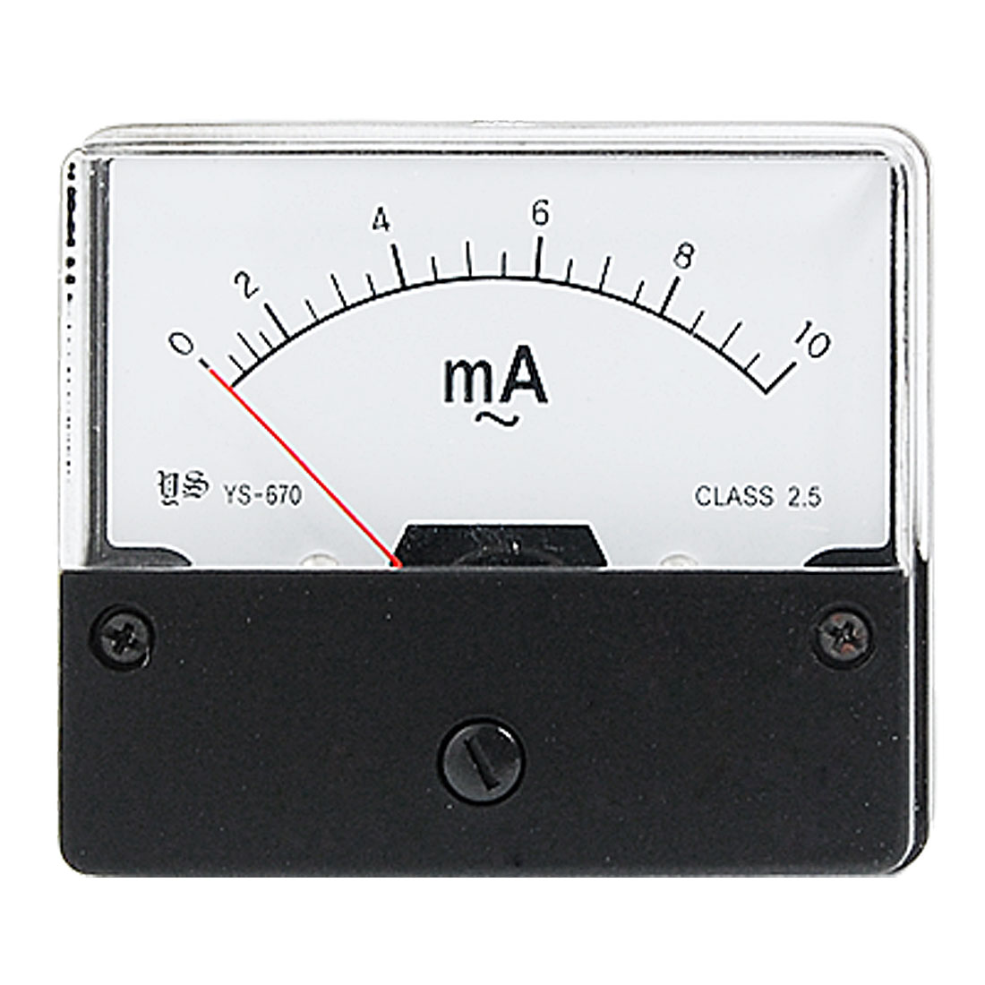 AC 0-10mA Rectangle Analog Amperemeter Panel Meter Gauge YS-670
