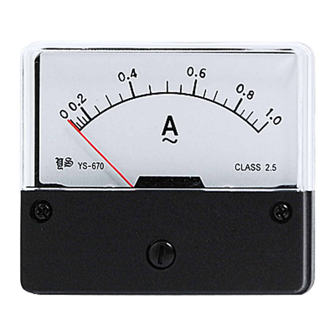 Analogue AC 0-1A Current Rectangle Panel Meter Measuring Tool