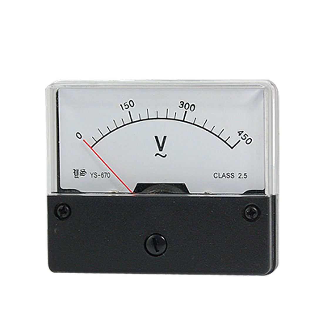 AC 0-450V Fine Tuning Dial Analog Voltmeter Panel Meter YS-670