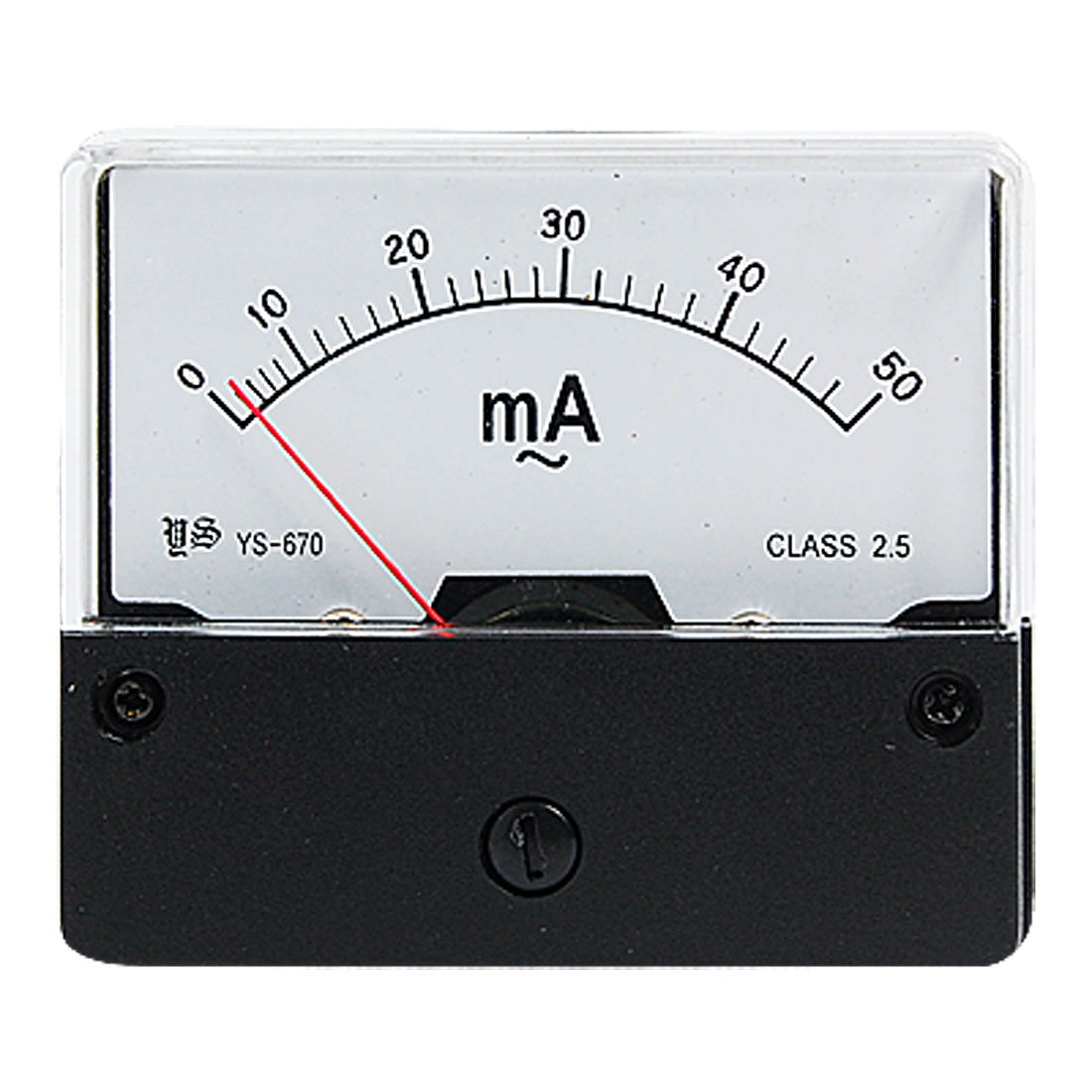 0-50mA AC Current Rectangle Panel Power Meter Analog Ammeter Gague