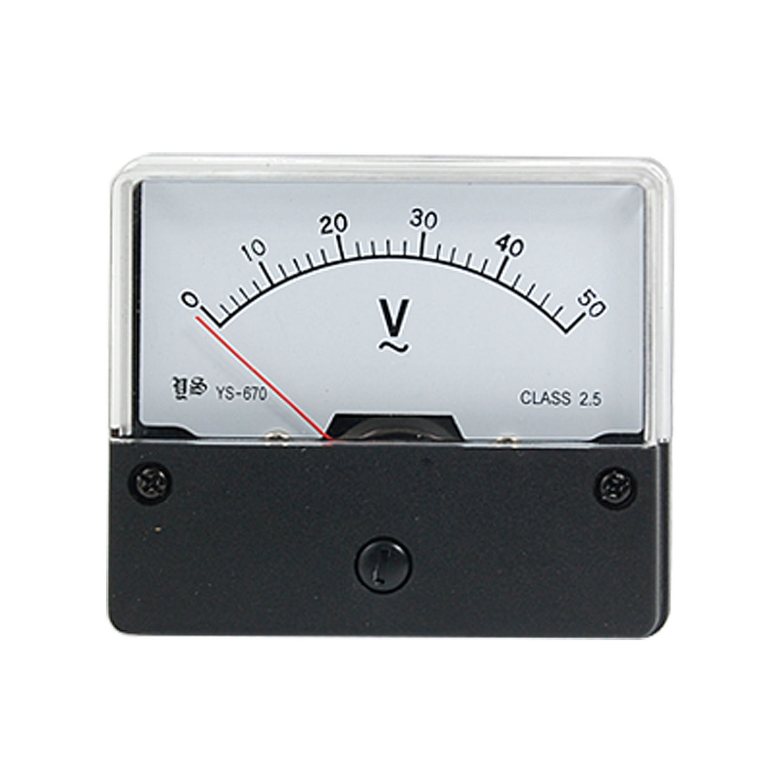 AC0-50V Class 2.5 Accuracy Analog Voltage Panel Meter New