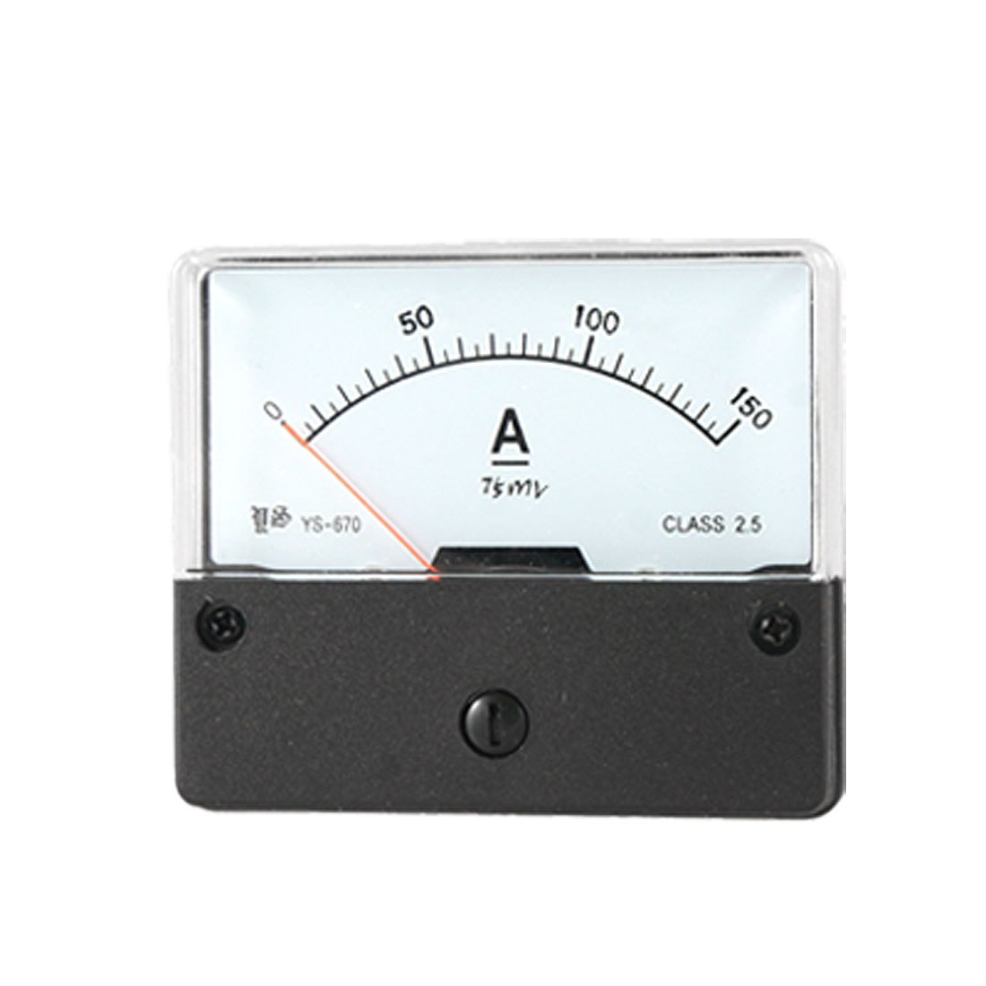 Plastic Housing DC 0-150A Current Range Analog Ammeter