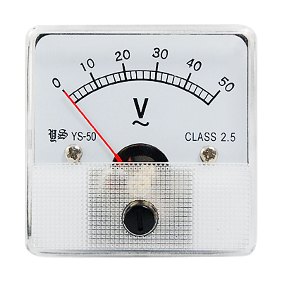 Square Plastic Clear Face AC 0-50V Voltage Panel Meter