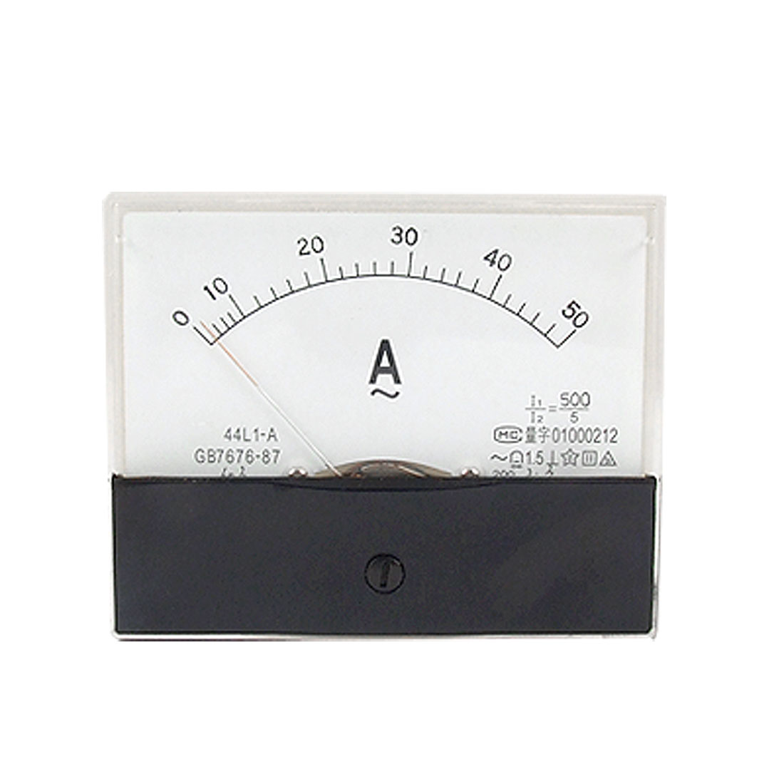 AC 50A Rectangle Panel Analog Current Meter Ammeter 44L1-A