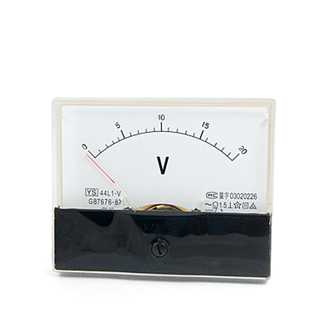 44L1-V AC 0-20V Rectangle Analog Panel Mount Volt Meter Gauge