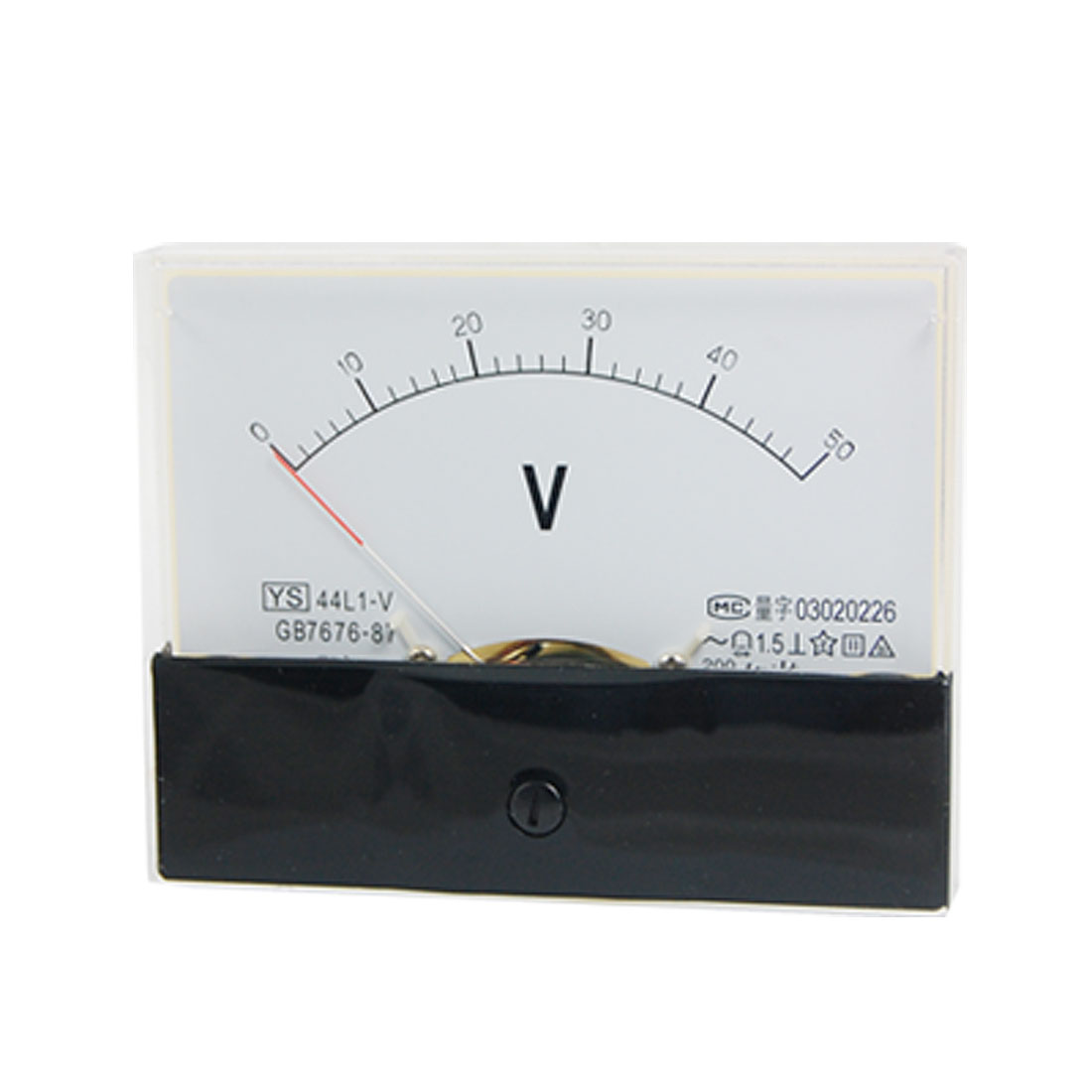 44L1 AC 0-50V Rectangle Analog Panel Voltmeter Gauge