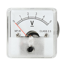 Class 2.5 Analog Voltage Panel Meter DC 0-5V Voltmeter
