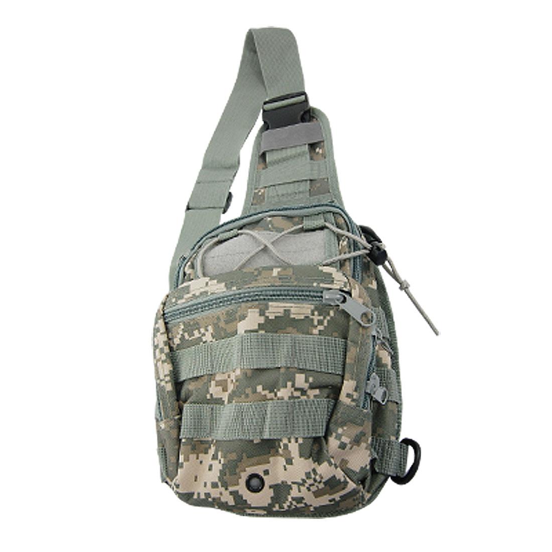 Men Multi-Pocket Zippered Camouflage Chest Pack Shoulder Messenger Bag