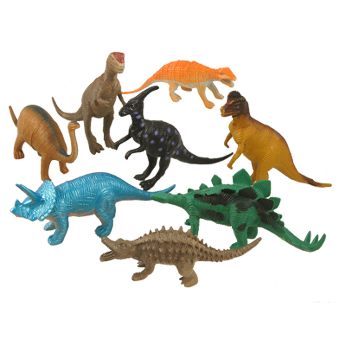 8 Pcs Children Assorted Artificial Tyrannosaurus Plastic Dinosaur Toy