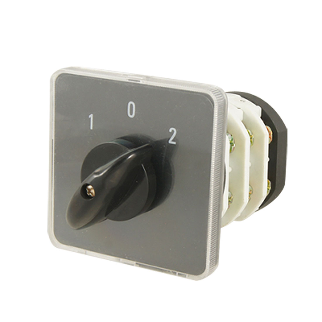 Ith 20A 12 Screw Terminals Black Handle Rotary Combination Switch