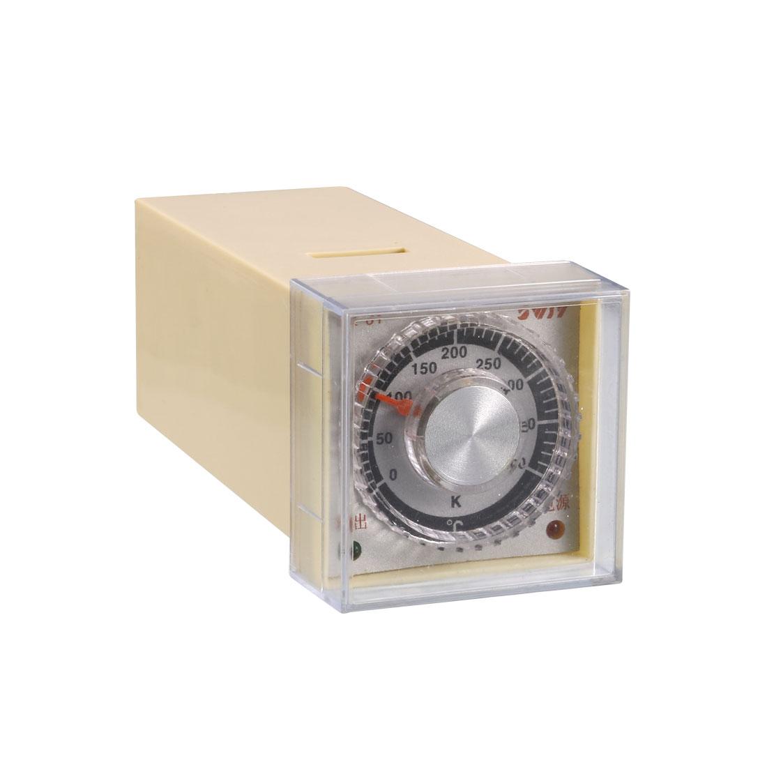 TE-01 0-400 Celsius Dial Knob Temperature Controller