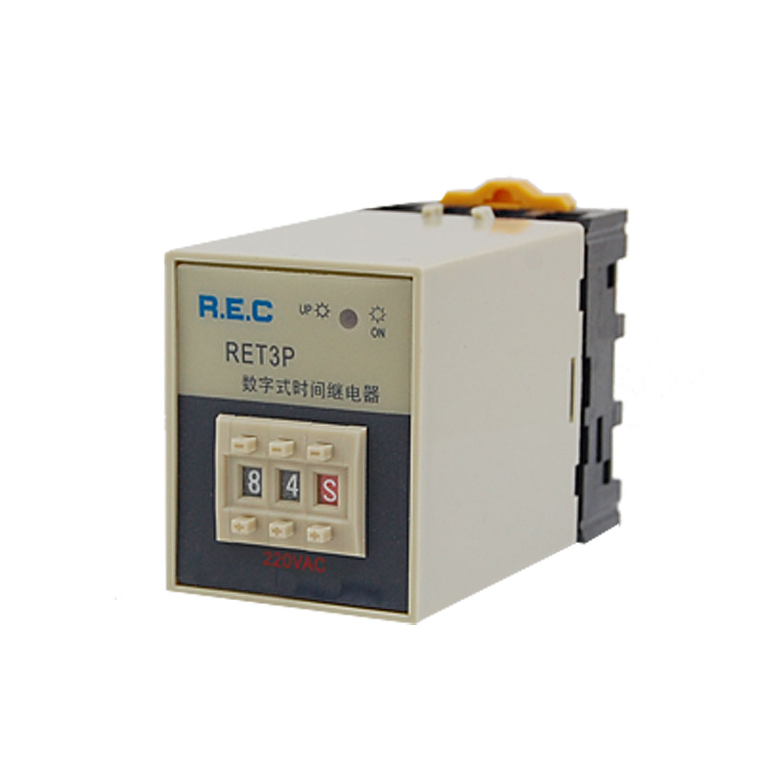 0.1s-99h 2 Digits Preset Electrical Time Relay RET3P w Socket