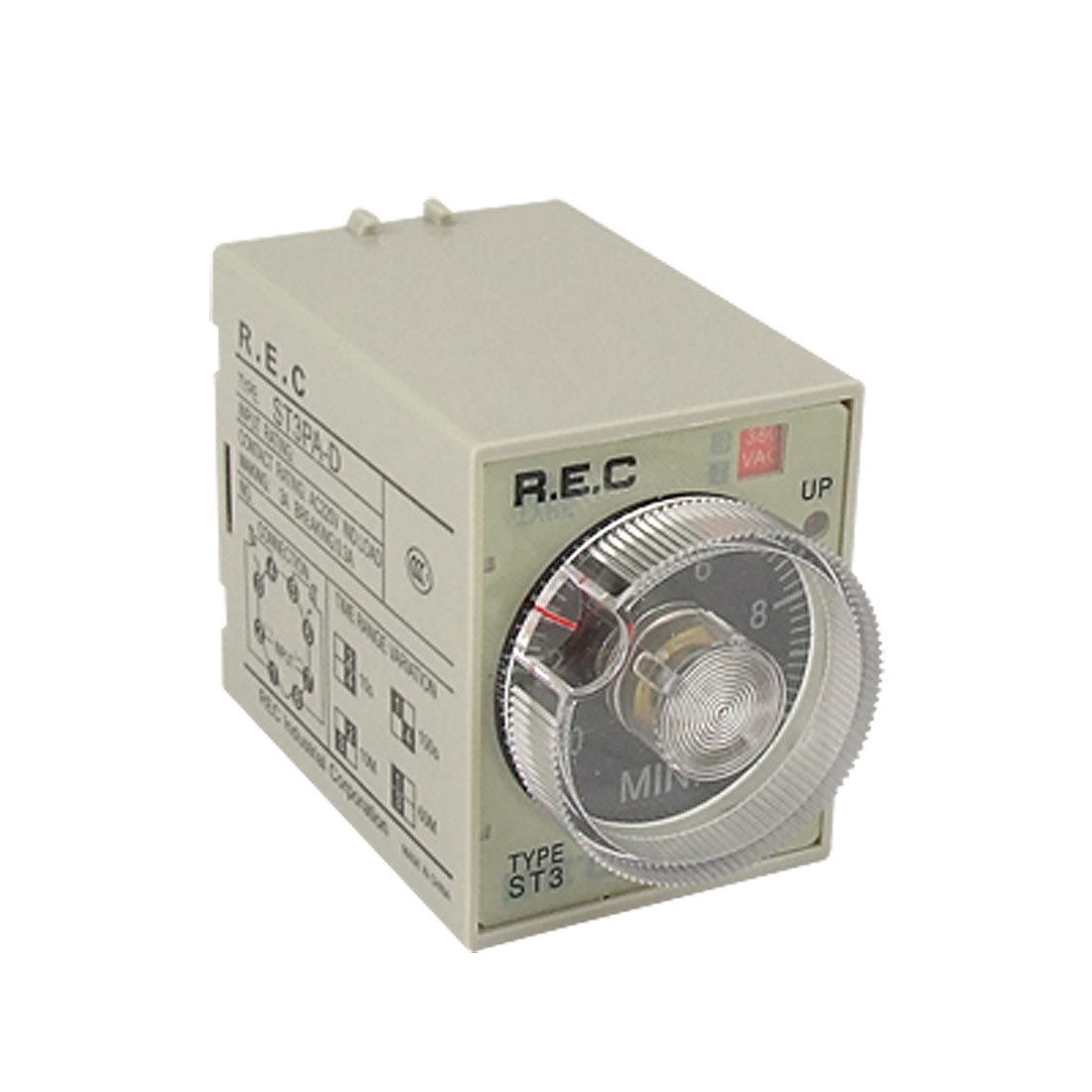 ST3PA-D AC 380V 0-10 Minute Power ON Delay Time Relay 8 Pin DPDT