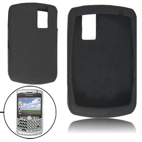 Black Protective Silicone Case Skin for Blackberry 8300