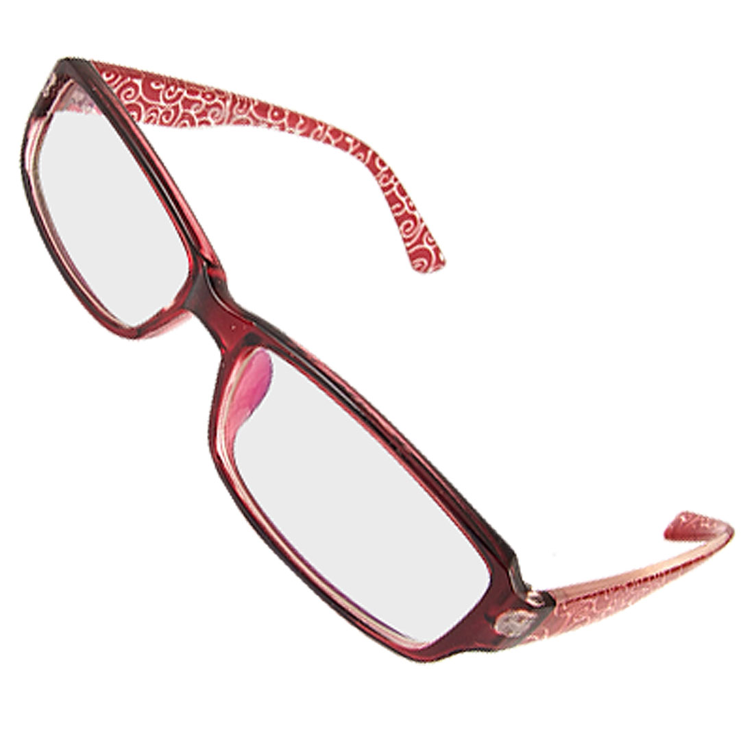 Lady Multi Coated Lens Burgundy Full Rim Spectacles Plain Glasses