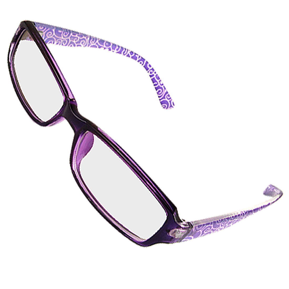 Lady Multi Coated Lens Purple Plastic Rim Plano Plain Glasses