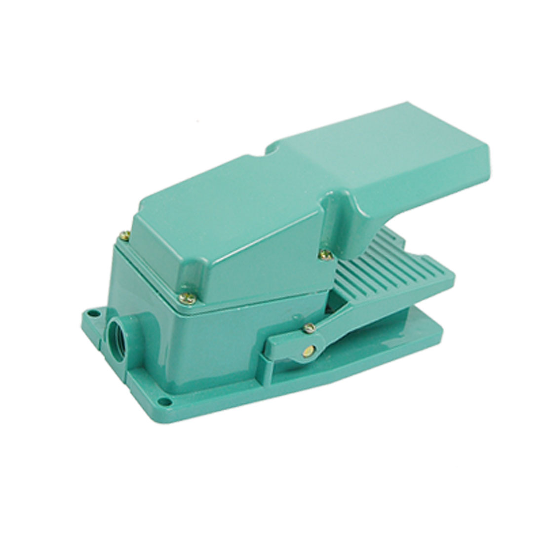 AC 250V 15A Antislip Metal Momentary Industrial Treadle Foot Pedal Switch Green
