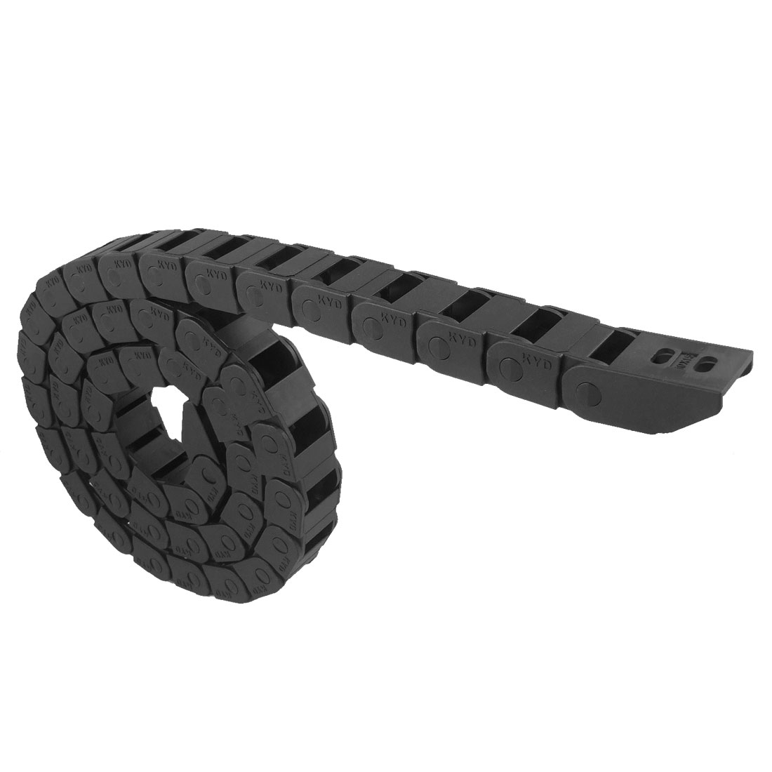 1M Long Black Plastic Towline Cable Drag Chain 10 x 15mm