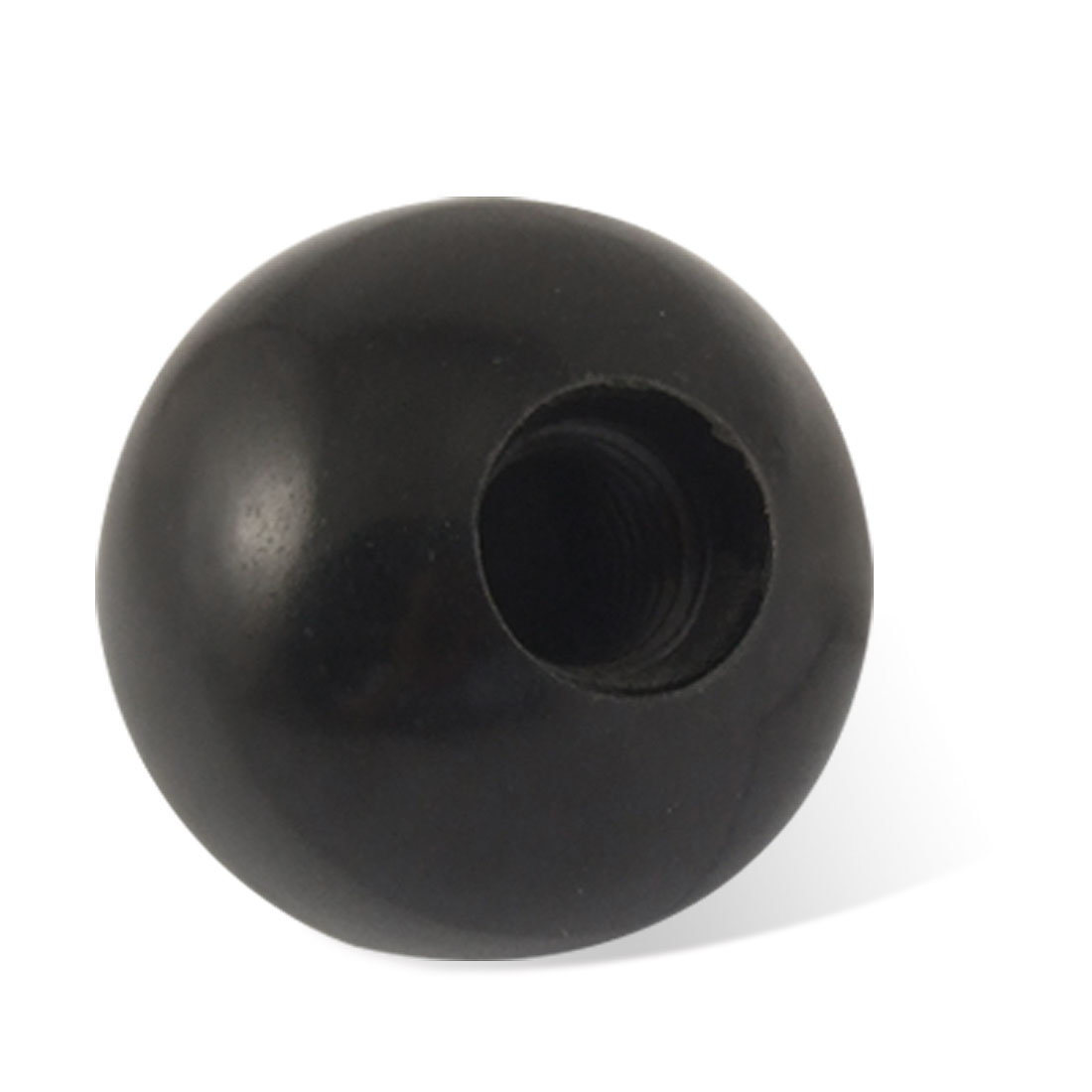 Solid Black Round Plastic 30mm Diameter Ball Lever Knob