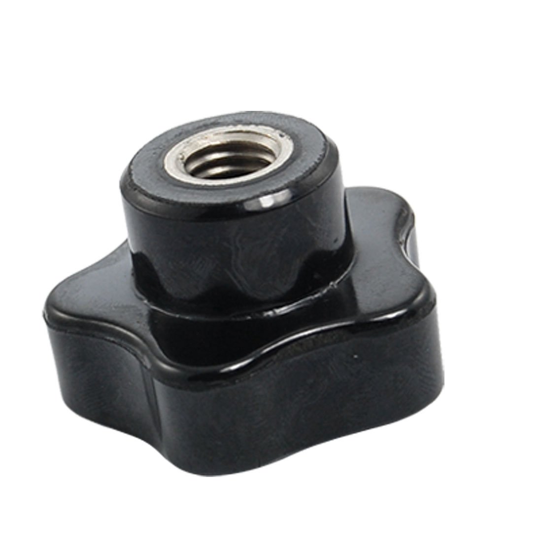 8mm Diameter Female Thread Black Plastic Grip Replacement Star Knob