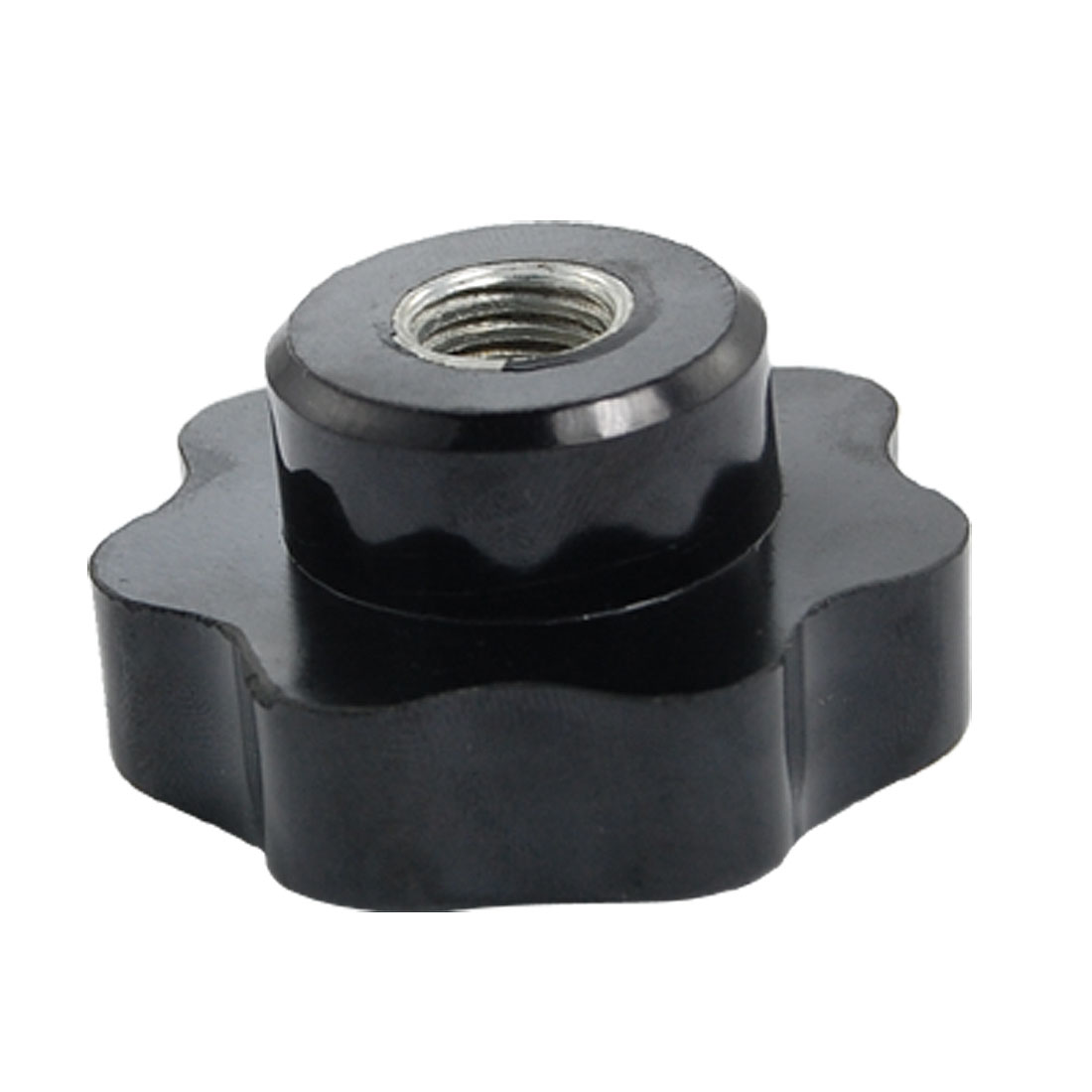 12mm Female Thread Diameter Black Plastic Star Knob Replacement