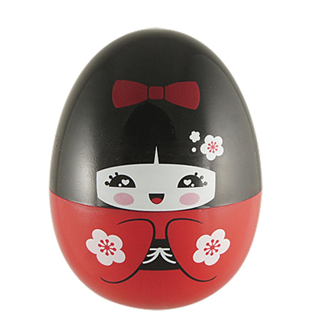 Kokeshi Doll Style Red Kimono Girl Plastic Toothpick Dispenser
