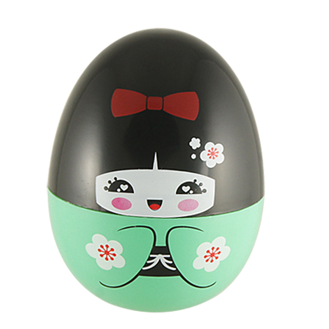 Egg Shape Desk Decor Cartoon Girl Tumbler Design Toothpick Holder