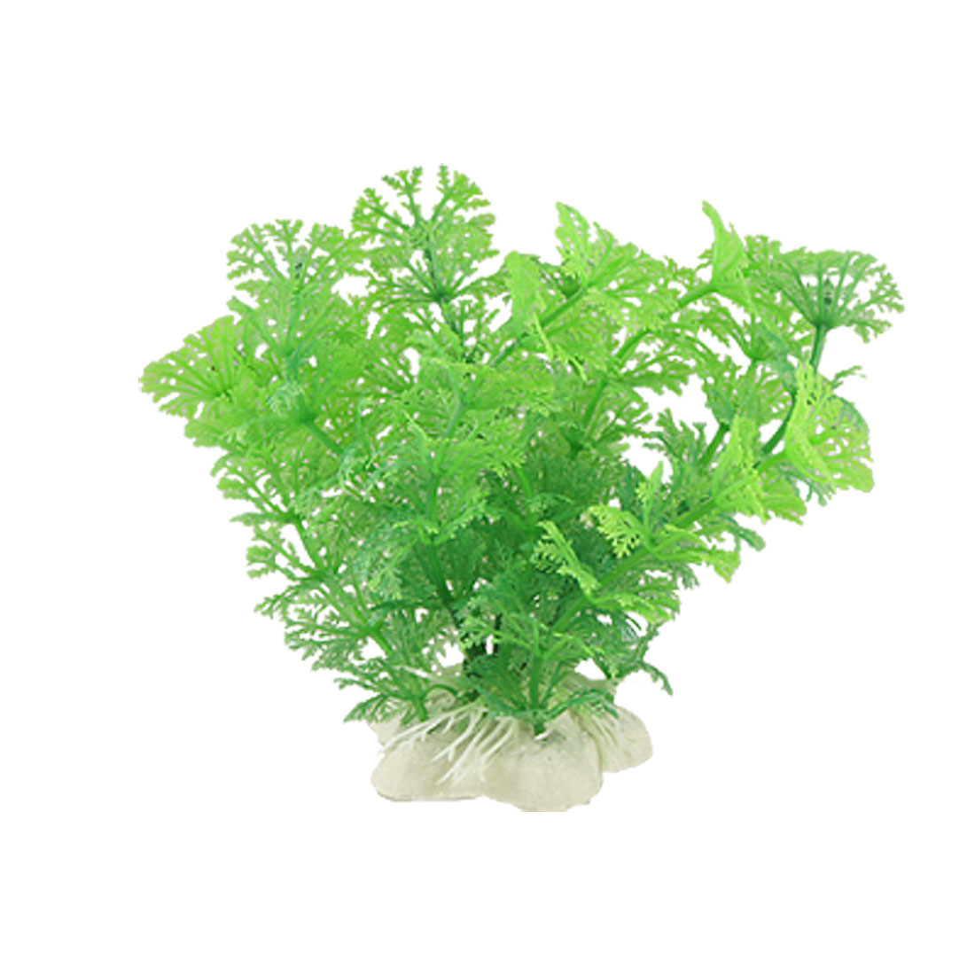 Fish Tank Decor Emulational Green Leaves Plants Plants w Base