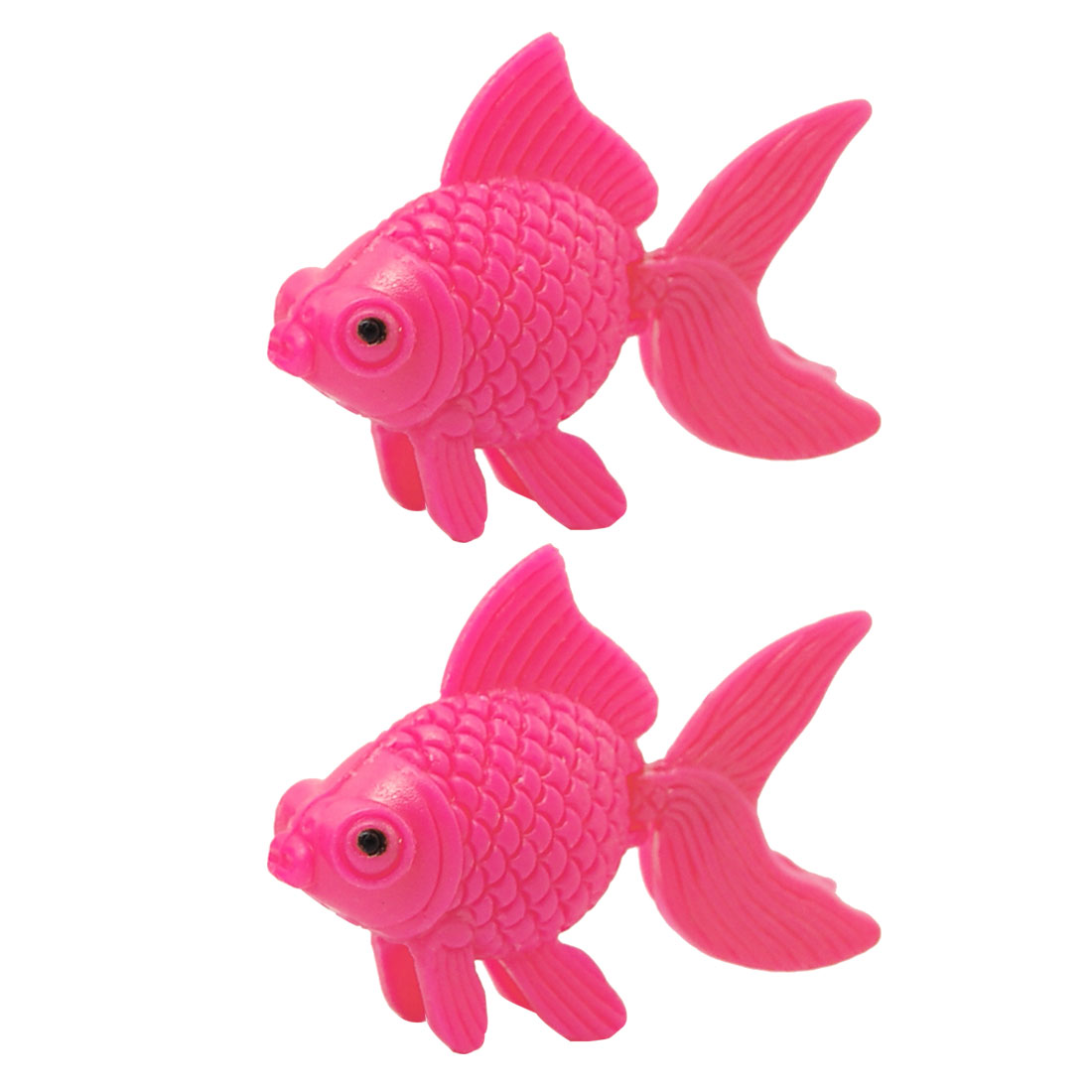 2 Pcs Pink Plastic Floating Goldfish Decor for Aquarium Tank