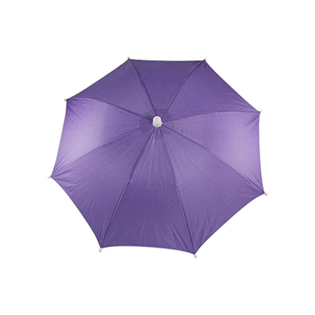 Outdoor Sports Fishing Purple Sun Rain Shade Umbrella Hat